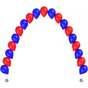 Цепочка из гелиевых воздушных шариков  1 м от компании Шар-MSK