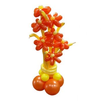 Букет-колонна из воздушных шариков Осенний 11 шт.