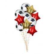 Букет шаров Футбольный 10 шт