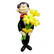Фигуры из воздушных шаров Джентльмен с цветами Шар-MSK