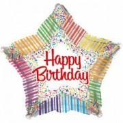 Фольгированный воздушный шар Звезда С днем рождения! от компании Шар-MSK