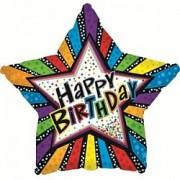 Фольгированный воздушный шар Звезда С днем рождения! от фирмы Шар-MSK