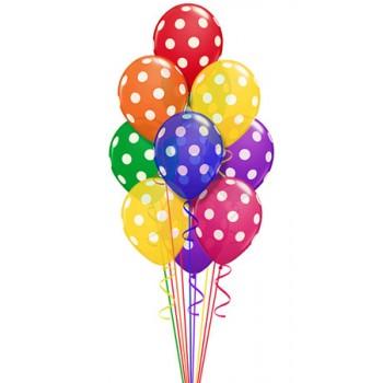 Букет из воздушных шаров Ассорти в Горошек 50 шт.