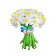 Букет ромашек из воздушных шаров 21 шт. купить по выгодной цене от Шар-MSK