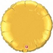 Фольгированный воздушный шар Шар золотой 40 см от компании Шар-MSK