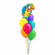 Букет шаров Ассорти с Попугаем 30 + 1 шт от компании Шар-MSK