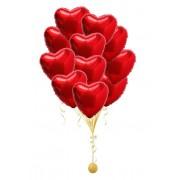 Букет шаров Сердца фольгированные 20 шт