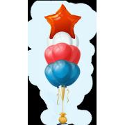 Букет воздушных шаров Звездный триколор 30 + 1 шт от фирмы Шар-MSK купить по доступной цене