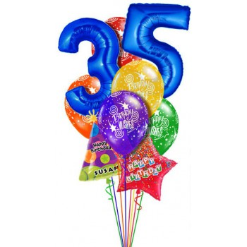 Букет воздушных шаров с цифрами