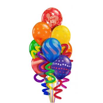 Букет воздушных шаров Ассорти с узором  и завитушками  30 шт.