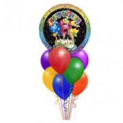Букет шаров Ассорти с поющим шаром  30 +1 шт