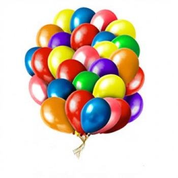 Облако из воздушных шаров Ассорти Кристалл 50 шт.