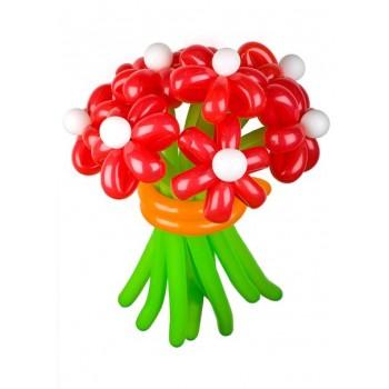 Букет цветов из воздушных шариков Красный 15 шт.