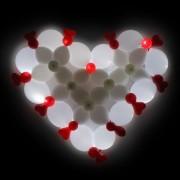 Купить светящиеся гелиевые воздушные шары в форме сердца с доставкой от фирмы Шар-MSK
