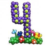 Заказать Цифры из воздушных шаров с декором от компании Шар-MSK