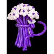 Букет цветов из воздушных шаров Фиолетовая пантера 15 шт. от фирмы Шар-MSK