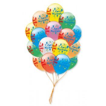 Букет шаров C днем рождения 50 шт