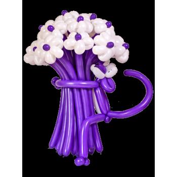 Букет цветов из воздушных шаров Фиолетовая пантера 15 шт.