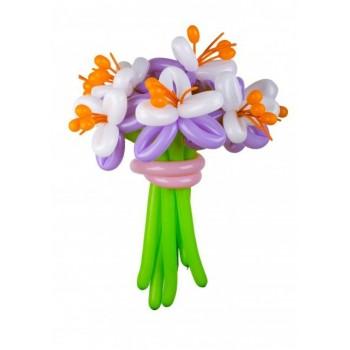 Букет цветов из воздушных шаров Ирис 5 шт.
