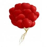 Букет воздушных шаров Сердца 30 шт
