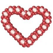 Купить бескаркасное сердце из воздушных шаров с доставкой