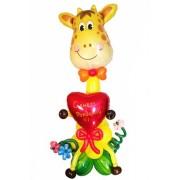 Фигуры из воздушных шариков Праздничный жираф от компании Шар-MSK