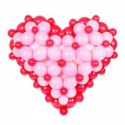 Купить большое объемное сердце из воздушных шаров с доставкой