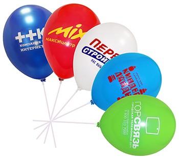 Печать на воздушных шарах 1 сторона, 1 цвет,  1000 шт.